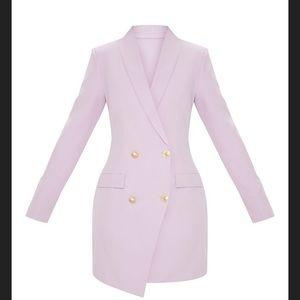 Pretty little thing lilac/lavender blazer dress
